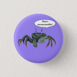 Badges Bouton désagréable de crabe