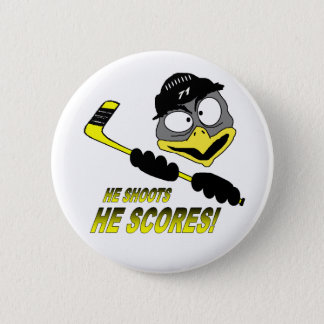Badges Bouton d'hockey de pingouin