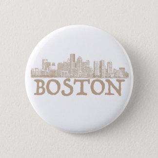 Badges Bouton d'horizon de ville de Boston