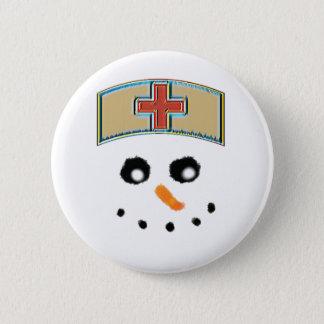Badges Bouton d'infirmière de bonhomme de neige