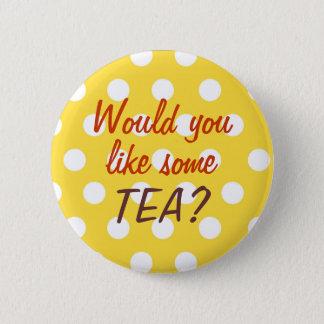 Badges Bouton d'invitation de thé