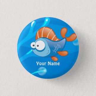 Badges Bouton drôle aquatique de coutume de poissons