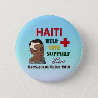 Badges Bouton du soulagement 2010 de tremblement de terre