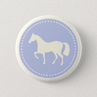 Badges Bouton équestre de silhouette de poney/cheval