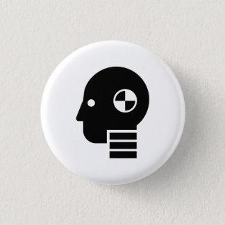 Badges Bouton factice de pictogramme d'essai d'accident