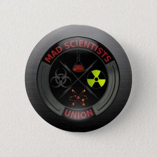 Badges Bouton fou brillant des syndicats de scientifique