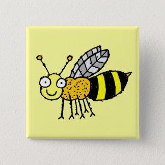 Badges Bouton génial d'abeille de miel de ferme