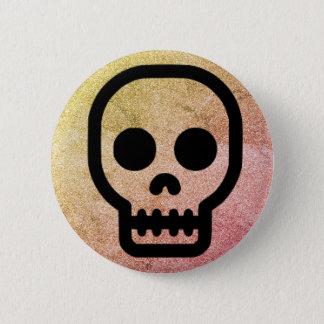 Badges Bouton gothique punk de Pinback de crâne de