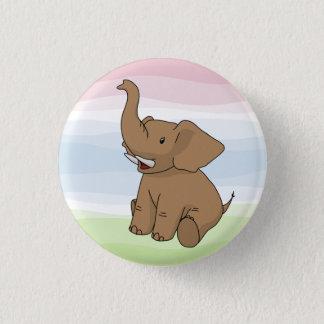 Badges Bouton heureux d'éléphant de Brown