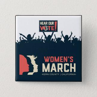 Badges Bouton II de mars Kern des femmes