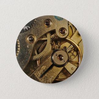 Badges Bouton : Laiton Hearted. Mécanisme de montre