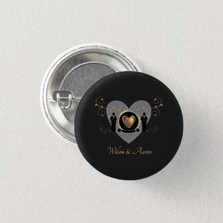 Badges Bouton masculin du mariage | de coeur d'or