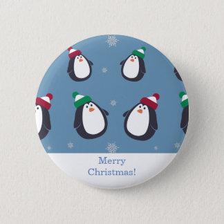 Badges Bouton mignon de pingouins de Noël