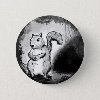 Badges Bouton noir d'encre d'écureuil