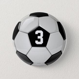 Badges Bouton noir et blanc de nombre du Jersey de ballon