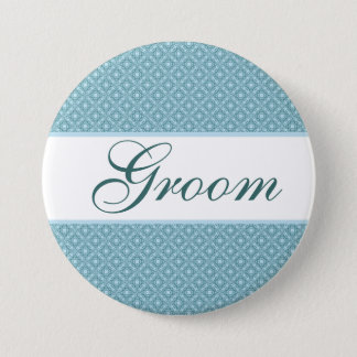Badges Bouton nommé de mariage pour le marié. Élégant et
