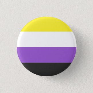 Badges bouton Non-binaire de drapeau
