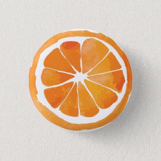 Badges Bouton orange de tranche