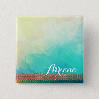 Badges Bouton personnalisé de Pin de clôture d'aquarelle