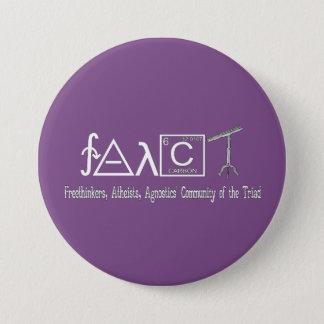 """Badges Bouton rond 3"""" de groupe athée de FAACT obscurité"""