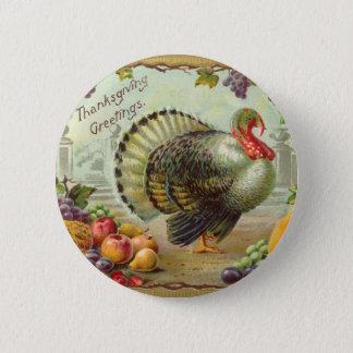 Badges Bouton rond de salutations vintages de