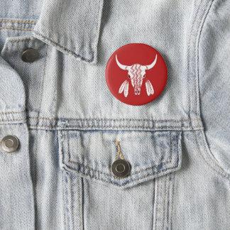 Badges Bouton rond standard de fantôme de Buffalo rouge