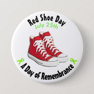 Badges Bouton rouge de chaussures de jour rouge de
