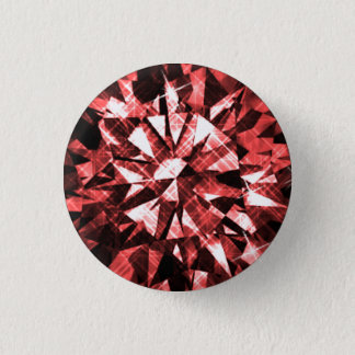 Badges Bouton ROUGE de DIAMANT