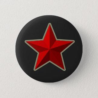 Badges Bouton rouge d'étoile