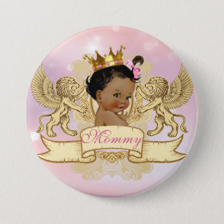 Badges Bouton royal africain de princesse baby shower
