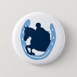 Badges Bouton sautant en fer à cheval de cheval