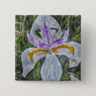 Badges Bouton sauvage d'iris