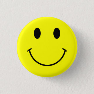 Badges Bouton souriant de visage