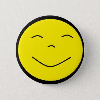 Badges Bouton souriant jaune de visage