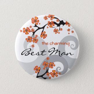 Badges Bouton tropical d'étiquette de nom de mariage de