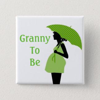 Badges Bouton vert de grand-mère