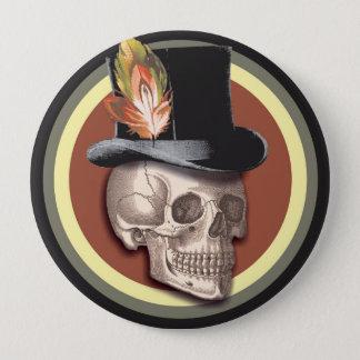 Badges Bouton vintage de crâne de casquette supérieur
