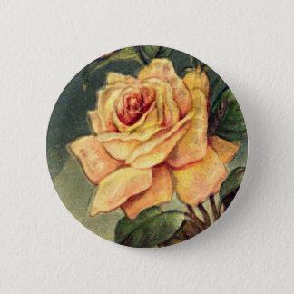Badges Bouton vintage de roses jaunes