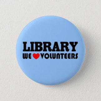 Badges Bouton volontaire de bibliothèque