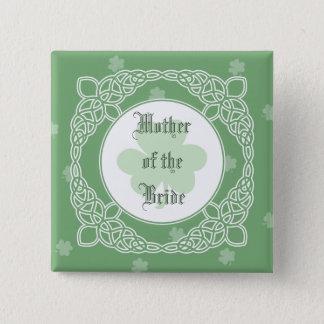 Badges Boutons celtiques de noce de brume - vert