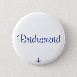 Badges Boutons nautiques de mariage de demoiselle