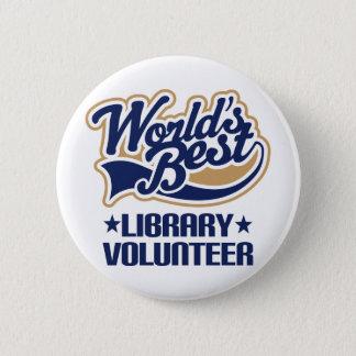 Badges Cadeau volontaire de bibliothèque