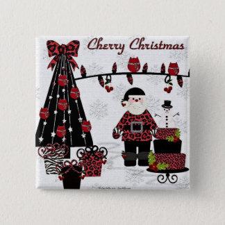 Badges Cadeaux de Père Noël de Noël de cerise de