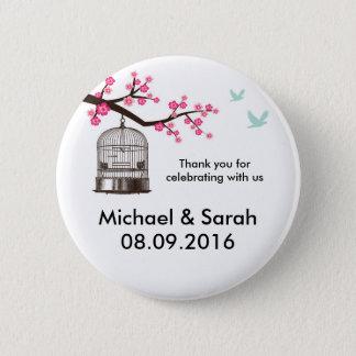 Badges Cage à oiseaux classique et bouton rose de Merci