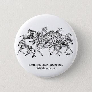 Badges Camouflage de confusion de zèbre - bouton