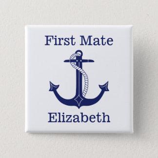 Badges Capitaine de marine nautique d'ancre personnalisé