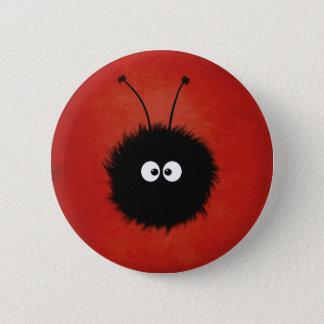 Badges Caractère brillé pelucheux mignon rouge d'insecte