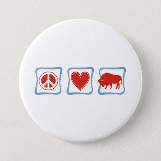 Badges Carrés de Buffalo d'amour de paix