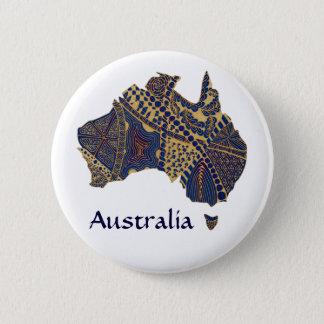 Badges Carte de l'Australie Tan-Bleu-Rouge