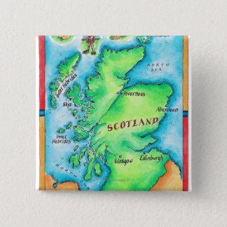 Badges Carte de l'Ecosse